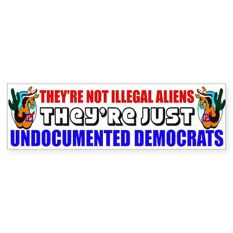 """""""Undocumented Democrats"""" Sticker"""