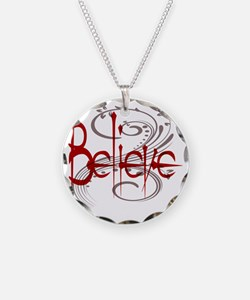 Believe Maroon with Grey Flo Necklace