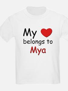 My heart belongs to mya Kids T-Shirt