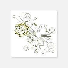 "circuitboard flowchart Square Sticker 3"" x 3"""