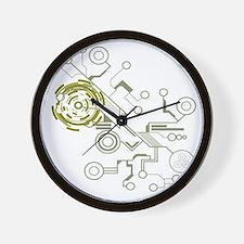 circuitboard flowchart Wall Clock