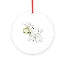 circuitboard flowchart Round Ornament