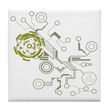 circuitboard flowchart Tile Coaster