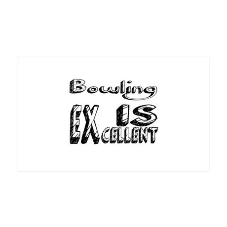 Bowling Is Excellent 35x21 Wall Decal