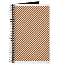 Brown Diagonal Stripes Journal