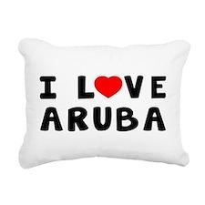 I Love Aruba Rectangular Canvas Pillow