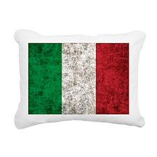 Italian Flag Rectangular Canvas Pillow