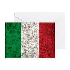 Italian Flag Greeting Card