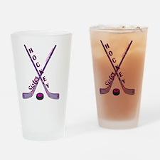 hockey_sister Drinking Glass
