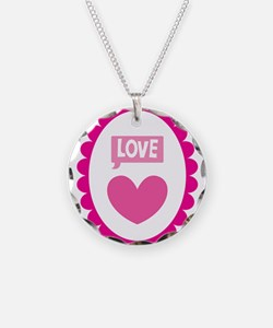 Love word Heart Cameo Necklace