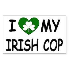 I Love Irish Cop Rectangle Decal