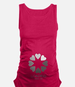 New baby loading hearts Maternity Tank Top