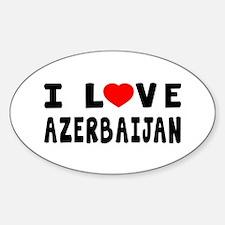 I Love Azerbaijan Sticker (Oval)