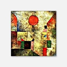 "Klee - Red Balloon, paintin Square Sticker 3"" x 3"""