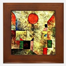 Klee - Red Balloon, painting by Paul K Framed Tile