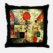 Klee - Red Balloon, painting by Paul  Throw Pillow