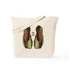 Camo Pointe Shoes Tote Bag