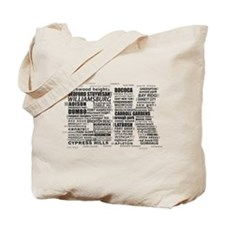Brooklyn BK Text Art Tote Bag