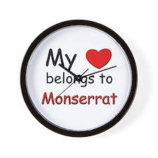 My heart belongs to monserrat Wall Clock