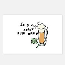 Its All About the (Irish) Beer Postcards (Package