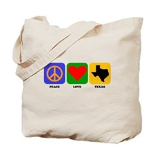 Peace Love Texas Tote Bag