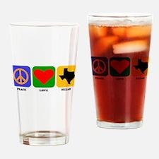 Peace Love Texas Drinking Glass