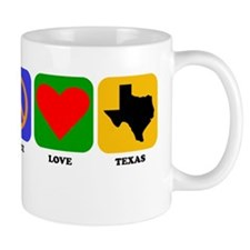Peace Love Texas Mugs