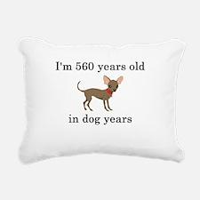 80 birthday dog years chihuahua Rectangular Canvas