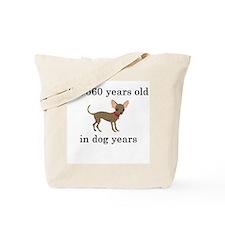 80 birthday dog years chihuahua Tote Bag