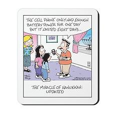 Hanukkah Cell Phone Miracle Mousepad