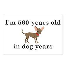 80 birthday dog years chihuahua 2 Postcards (Packa