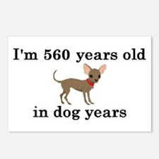 80 birthday dog years chihuahua 2 Postcards (Packa