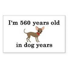 80 birthday dog years chihuahua 2 Decal