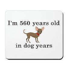 80 birthday dog years chihuahua 2 Mousepad
