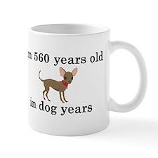 80 birthday dog years chihuahua 2 Mugs