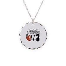 be afraid of number 3 Necklace Circle Charm