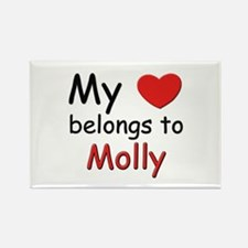 My heart belongs to molly Rectangle Magnet