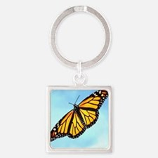 Monarch Butterfly Mousepad Square Keychain