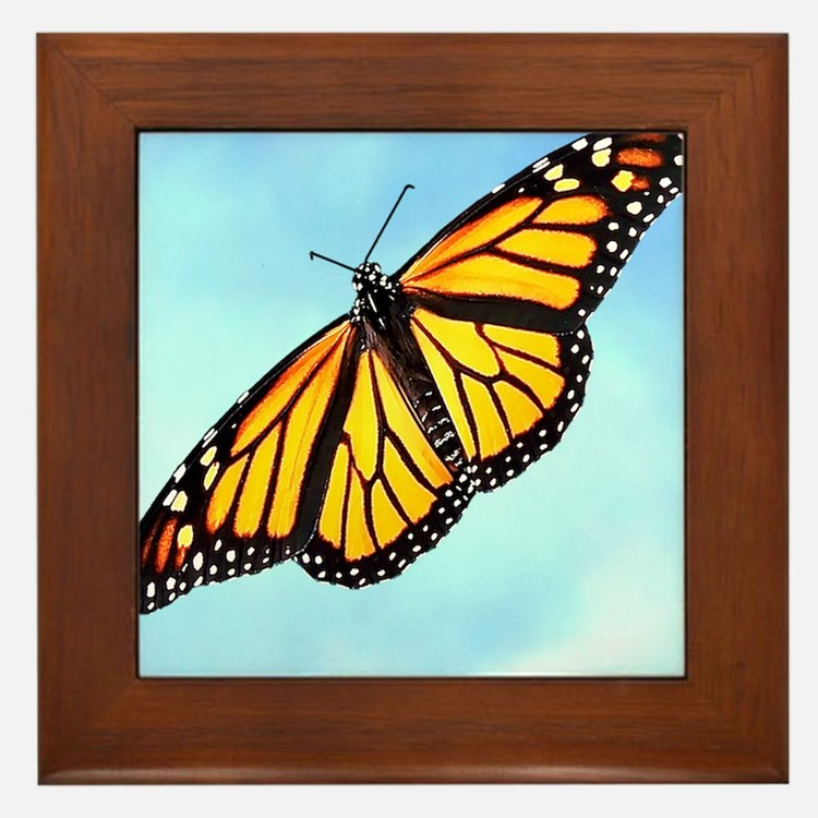 Monarch Butterfly Mousepad Framed Tile