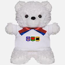 Peace Love Oregon Teddy Bear