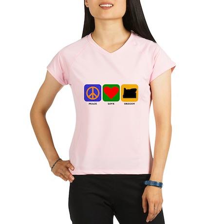 Peace Love Oregon Performance Dry T-Shirt