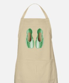 Soft Lime Pointe Shoes Apron