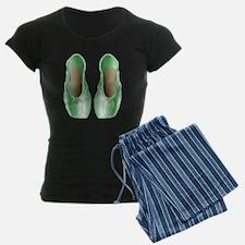 Soft Lime Pointe Shoes Pajamas