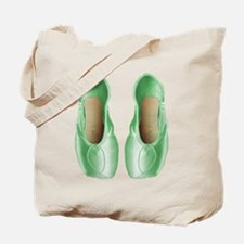 Soft Lime Pointe Shoes Tote Bag