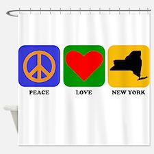 Peace Love New York Shower Curtain