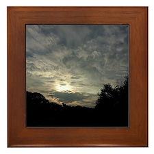 Blushed Clouds Framed Tile