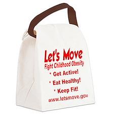 letsmove_transparent2 Canvas Lunch Bag