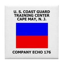 USCG Recruit Company E176<BR> Tile Coaster