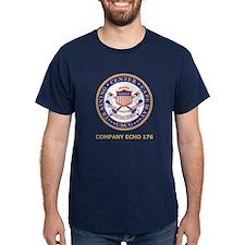 USCG Recruit Company E176<BR> Blue T-Shirt 2