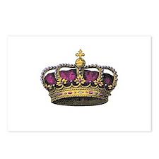 Vintage Pink Crown Postcards (Package of 8)